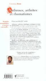 Mots Sont Des Fenetres Rhumatismes - 4ème de couverture - Format classique