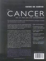 Cancer est un mot, pas une condamnation - 4ème de couverture - Format classique