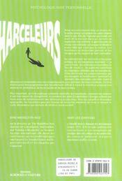 Harceleurs - De L'Ecole Au Bureau - Strategies Pour Desamorcer Leur Comportement - 4ème de couverture - Format classique