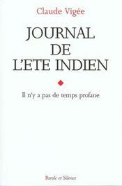 Journal De L' Ete Indien - Intérieur - Format classique