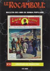 Revue Rocambole N.11 ; Stratégies De Traduction - Couverture - Format classique