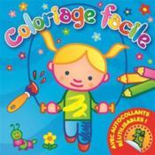 Coloriage facile ; fille jouant à la corde - Couverture - Format classique