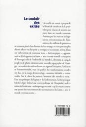 Le couloir des exilés ; être étranger dans un monde commun - 4ème de couverture - Format classique