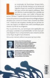Dans la tête des candidats ; le profil psychologique des présidentiables - 4ème de couverture - Format classique
