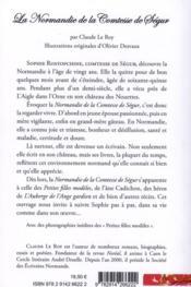 La normandie de la Comtesse de Ségur - 4ème de couverture - Format classique