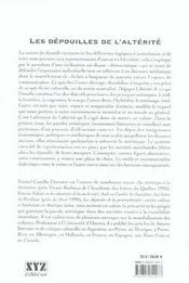 Les Depouilles De L Alterite - 4ème de couverture - Format classique