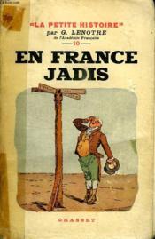 En France Jadis. - Couverture - Format classique