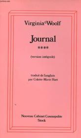 Journal - Tome 4 - Couverture - Format classique
