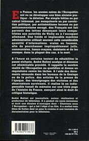 La Delation Sous L'Occupation - 4ème de couverture - Format classique