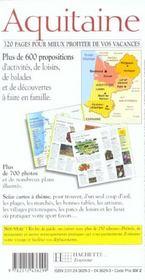 Aquitaine - 4ème de couverture - Format classique