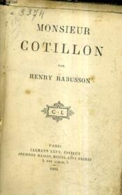 Monsieur Cotillon. - Couverture - Format classique