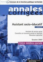 Assistant socio-éducatif (édition 2007) - Intérieur - Format classique