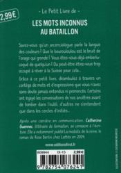 Le petit livre des mots inconnus au bataillon - 4ème de couverture - Format classique
