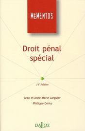 Droit pénal spécial (14e édition) - Intérieur - Format classique