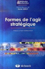 Formes de l'agir strategique - Intérieur - Format classique