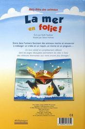 Méli-mélo des animaux ; la mer en folie ! - 4ème de couverture - Format classique