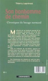 Bonhomme De Chemin (Son) - 4ème de couverture - Format classique