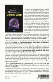 Les pouvoirs magiques des crânes de cristal - 4ème de couverture - Format classique