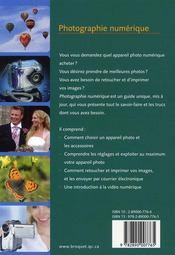 Photographie numérique - 4ème de couverture - Format classique