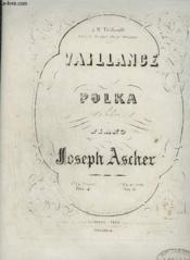 Vaillance - Polka Pour Piano A 4 Mains. - Couverture - Format classique