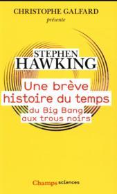 Une breve histoire du temps ; du Big Bang aux trous noirs - Couverture - Format classique