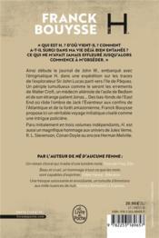 H - 4ème de couverture - Format classique