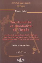 Territorialite et mondialite de l'impot (1re édition) - Intérieur - Format classique