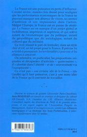 Strategie Pour La France - 4ème de couverture - Format classique