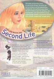 Les secrets de Second Life - 4ème de couverture - Format classique