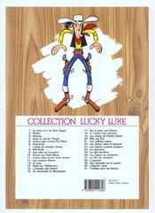 Lucky Luke T.20 ; Billy the kid - 4ème de couverture - Format classique