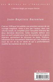 Panorama De La Litterature Fantastique De La Langue Francaise - 4ème de couverture - Format classique