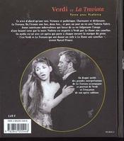 Verdi et la traviata ; vivre avec violetta - 4ème de couverture - Format classique
