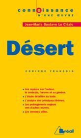 Désert, de Jean-Marie Gustave Le Clézio - Couverture - Format classique