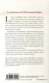 Philippe auguste - 4ème de couverture - Format classique