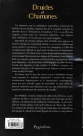 Druides et chamanes - 4ème de couverture - Format classique