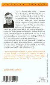 De Lui Jaillit La Vie - 4ème de couverture - Format classique