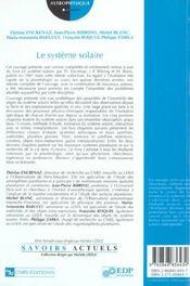Système solaire - 4ème de couverture - Format classique