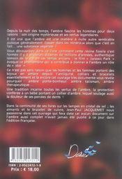 Ambre mysteres et vertus - 4ème de couverture - Format classique