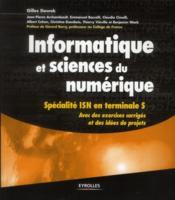 Informatique et sciences du numérique ; spécialité ISN en terminales - Couverture - Format classique