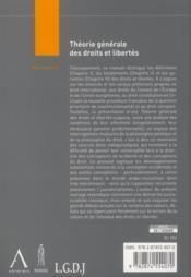 Théorie générale des droits et libertés (4e édition) - 4ème de couverture - Format classique