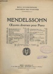 Oeuvres Diverses Pour Piano - N° 447 : Scherzo Du