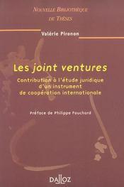 Les joint ventures. contribution a l'etude juridique d'un instrument de cooperation internationale (1re édition) - Intérieur - Format classique
