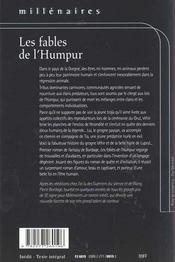 Fables de l'humpur (les) - 4ème de couverture - Format classique