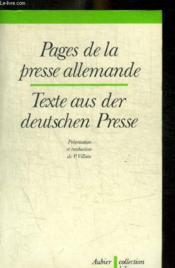 Pages de la presse allemande - Couverture - Format classique
