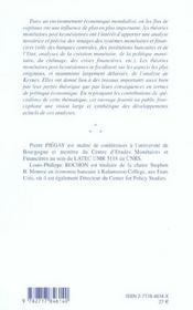 Theories Monetaires Post-Keynesiennes - 4ème de couverture - Format classique