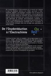 De l'oxydoréduction à l'électrochimie - 4ème de couverture - Format classique