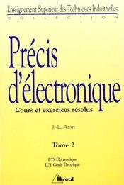 Precis d'electronique t.2 deuxieme annee - Intérieur - Format classique