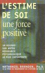 L'estime de soi ; une force positive - Intérieur - Format classique