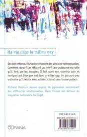 Ma vie dans le milieu gay - 4ème de couverture - Format classique