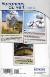 Vacances au vert France ; 250 hébergements insolites en pleine nature (édition 2011) - 4ème de couverture - Format classique